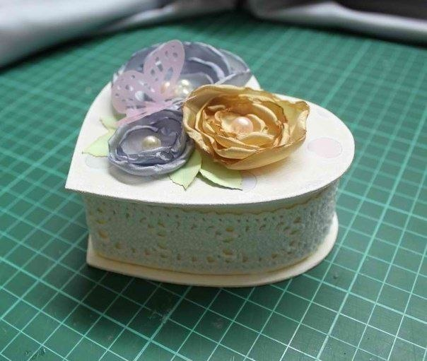 Шкатулка из картона в форме