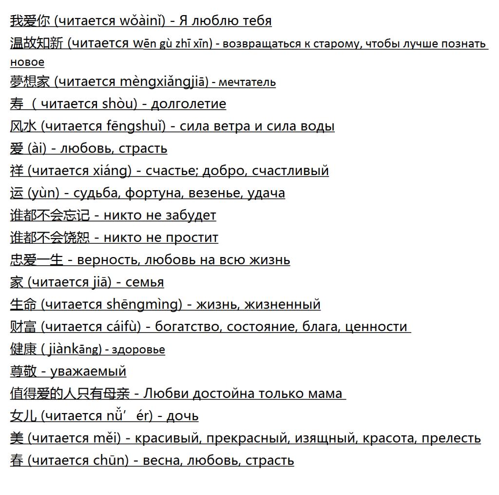 Тату надписи с переводом на русский
