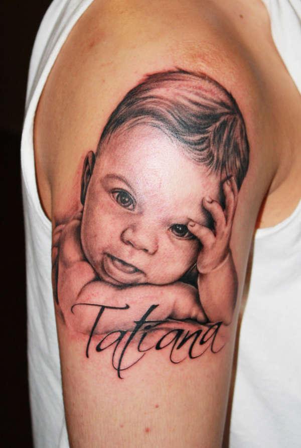 Тату своего ребенка на руке фото