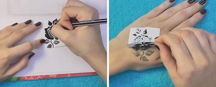 Как сделать своими руками тату фото